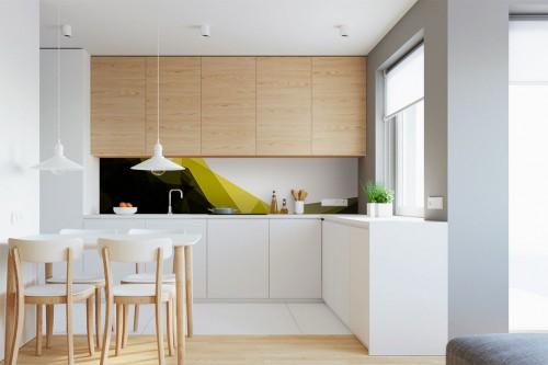 Crédence de cuisine design Jaune et noir