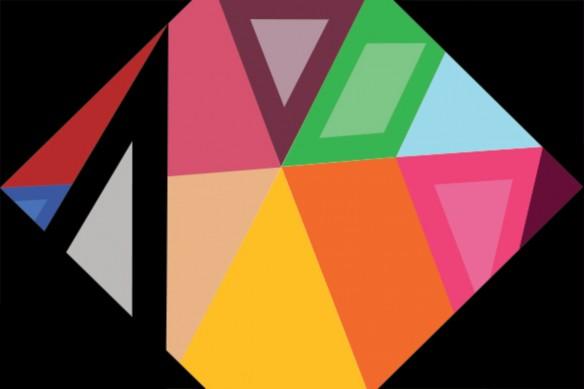 papier peint motif géométrique diamant hexagonal