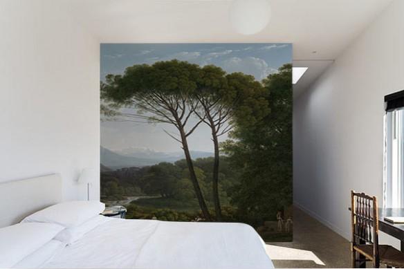 papier peint arbre chambre paysage source
