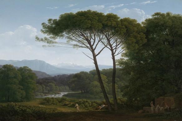 papier peint intissé moderne arbre paysage source