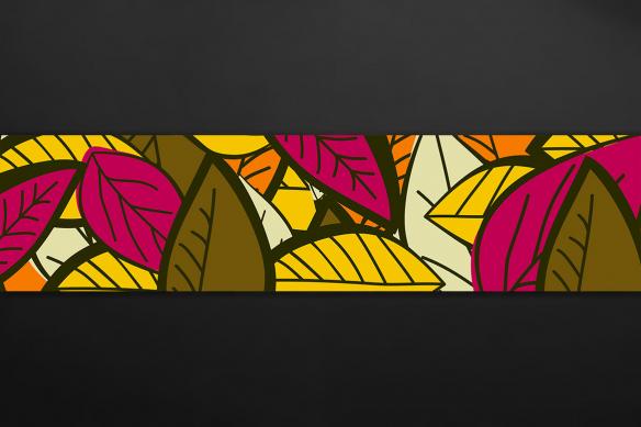 crédence décorative cuisine leaf