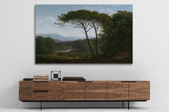Tableau arbre paysage source
