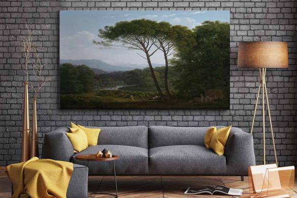 décoration salon tableau toile paysage source