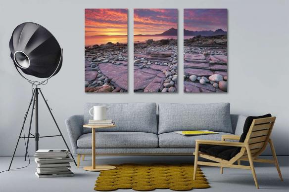 tableau-triptyque-moderne-paysage-marin
