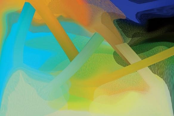 papier peint moderne confusion bleu ciel
