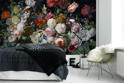 Papier peint fleuri Bouquet de fleurs