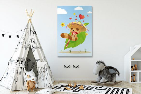 Tableau pour enfant mangas raton laveur