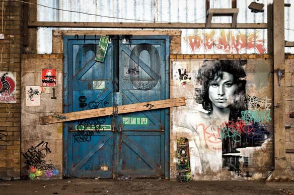 tapisserie murale style industriel sortie usine izoa