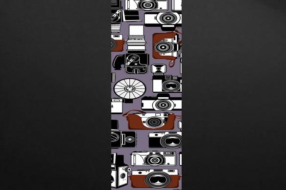 frise murale appareils photo rose