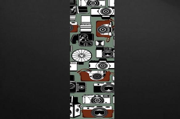 décoration vintage appareils photo vert