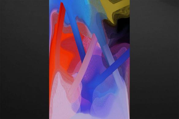 tableau geant confusion violet