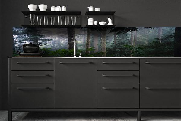 Crédence de cuisine forêt noire