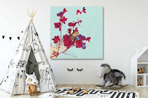Tableau chambre enfant oiseau