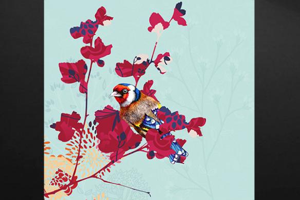 Tableau oiseau nature