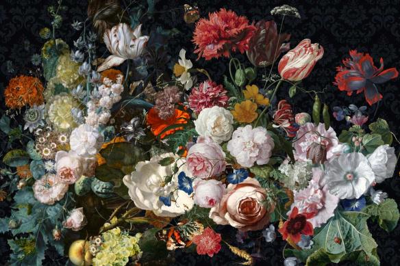 tableau vintage bouquet de fleurs