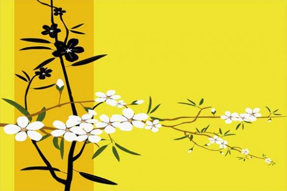 deco design tableau fleur jaune