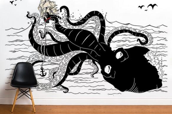 Tapisserie originale Kraken