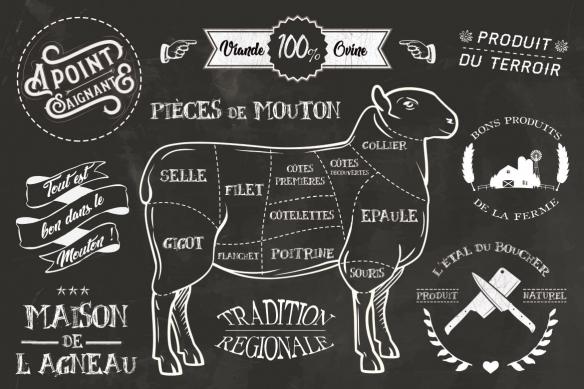 papier peint de luxe noir et blanc mouton