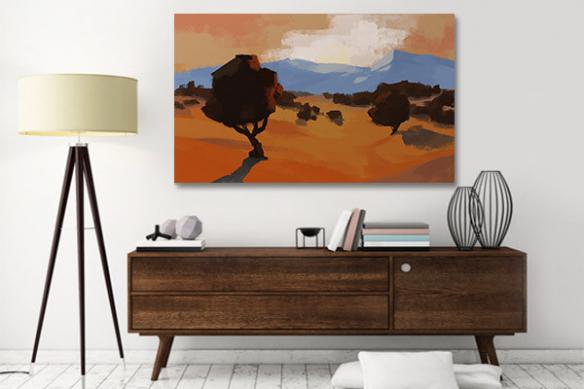 Tableau africain savane désertique