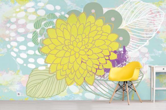 Papier peint Floral ishi