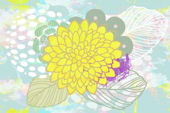 Papier peint Flleuri Ishi