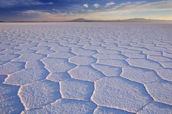 tableau sur toile désert de sel