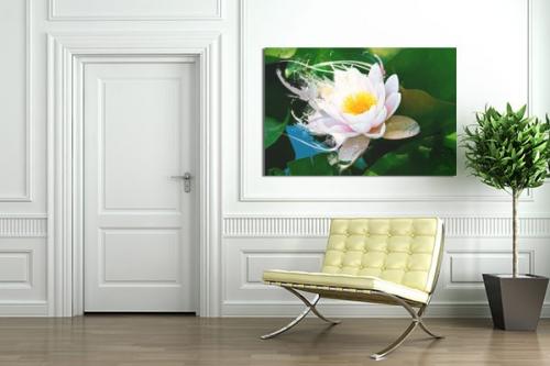 Tableau fleur Lotus by Mathieu Gazaix