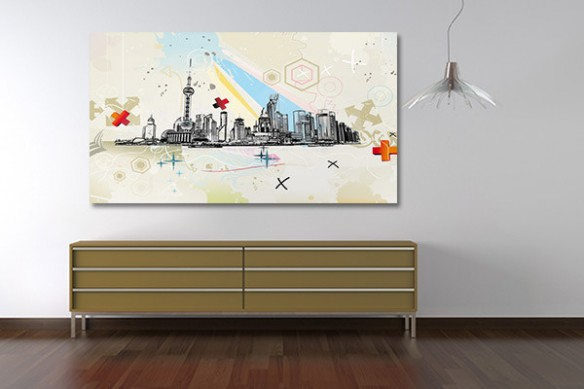tableau asiatique moderne Shanghai