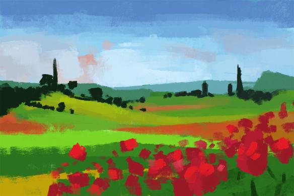 papier-peint-paysage-campagne-peint