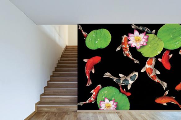 Papier peint japonais poisson zen