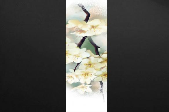 panneau décoratif mural fleurs mirabelle