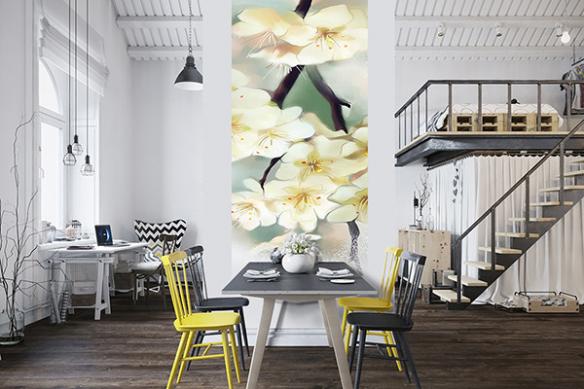 Lé de tapisserie Fleurs Mirabelle