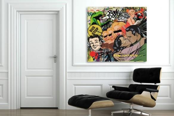 Tableau pop art design Play Carrefully