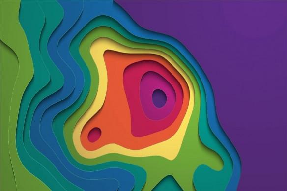papier peint design relief coloré