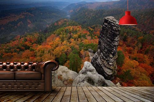 Papier Peint Paysage Montagne Panorama