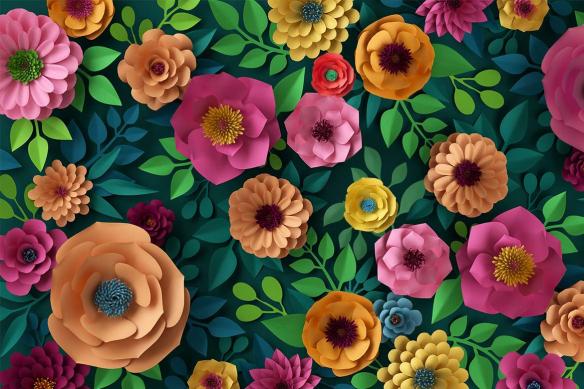 Papier peint végétal Floral