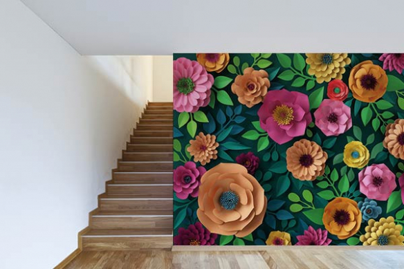 papier-peint-fleuri-vegetal