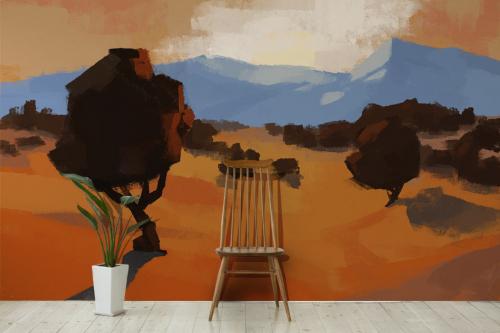 Papier peint Savane désertique