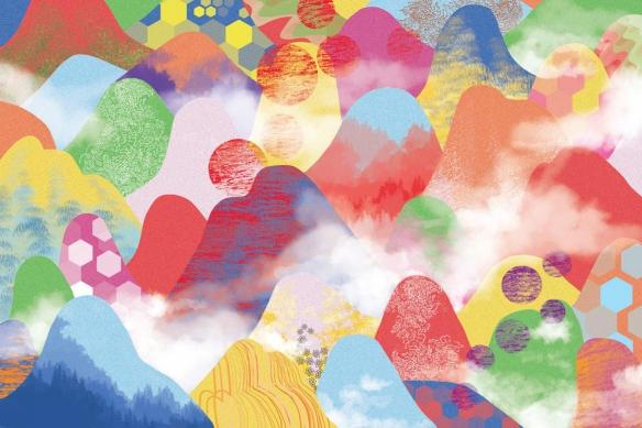 papier peint intissé vallées enchantées