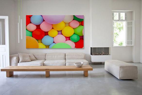 déco salon tableau coloré moderne