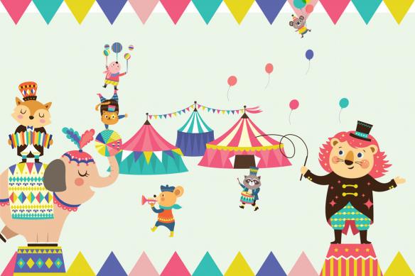 papier peint pour enfant circus paradise