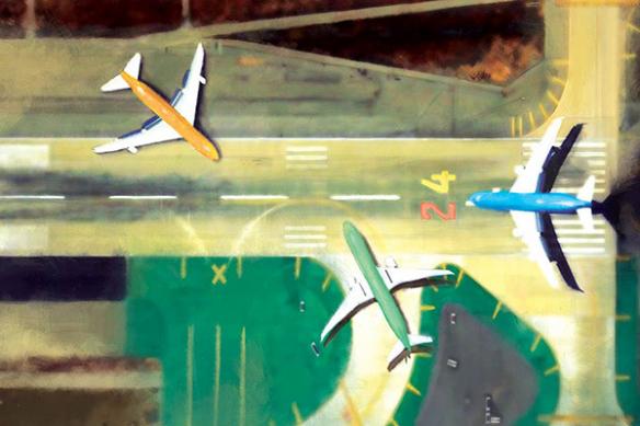 papier peint tendance avions
