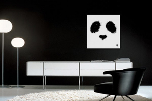 tableau noir et blanc decors muraux design izoa. Black Bedroom Furniture Sets. Home Design Ideas