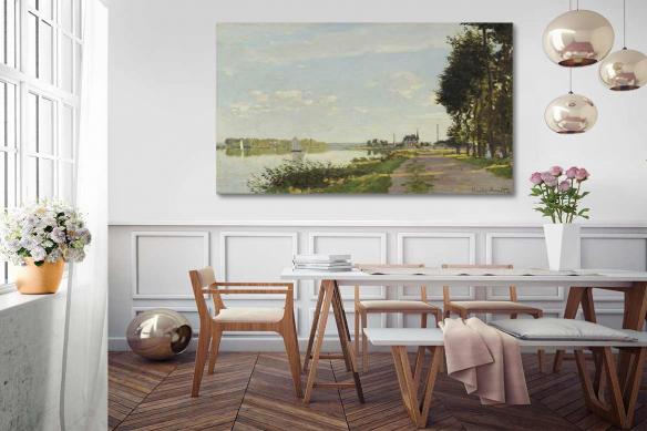 Tableau de paysage Le long du Canal