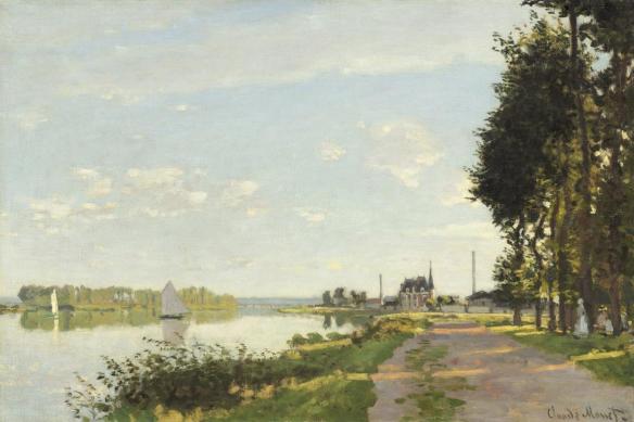 toile imprimée le long du canal