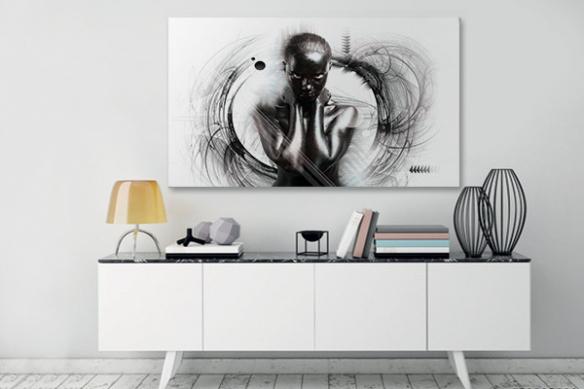Tableau art contemporain Noir désir