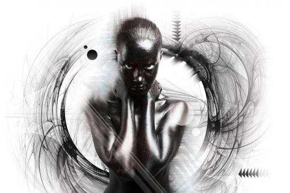 tableau femme noir et blanc noir desir