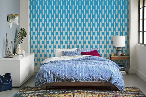 poster mural chambre bleu pilule
