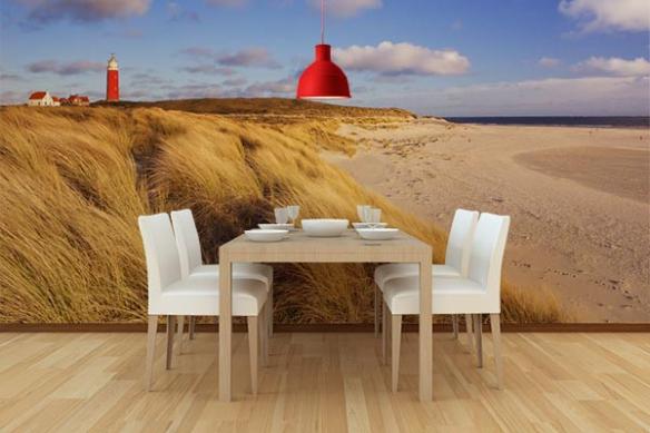 Papier peint mer du nord Ile de Texel