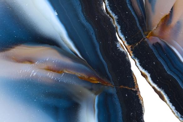 papier peint moderne agate bleue